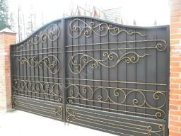 Распашные кованые ворота Арт. Кв-5